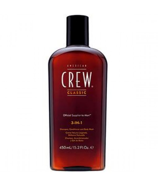3 In 1 Shampoing -revitalisant- gel douche 450ml- AMERICAN CREW