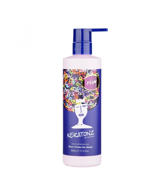 KERATONZ CLEANSE + EXTREME COLOR  SHAMPOING  PRUNE 500Ml -CYNOS